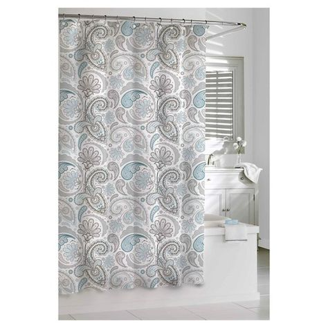 Chic And Sophisticated This Kassatex Paisley Shower Curtain
