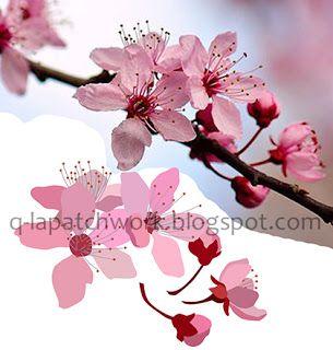 Q La Patchwork Sakura Pattern Pola Kain Bunga Sakura