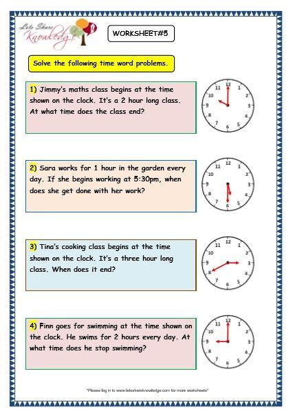 Grade 3 Maths Worksheets 8 5 Time Problems Lets Share Knowledge 3rd Grade Math Worksheets Math Word Problems Math Worksheet Cbse class maths worksheets fraction
