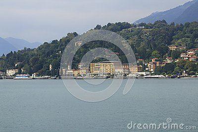 Look At Cadenabbia Town Panorama Bank Promenade In Lake Como In Italy Comer See Bilder Lombardei