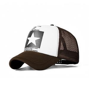 Baseball Cap Star Women Men Mesh Breathable Snap-back Summer Sport Hat Dad Bone