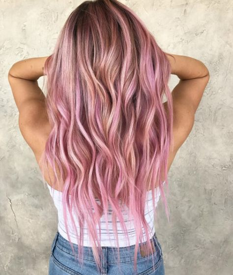 Populare Rosa Und Rosagold Haar Schattierungen Fur 2018 Beste Trend Mode Rosa Haare Ombre Blonde Ombre Haare Rosa Blonde Haare
