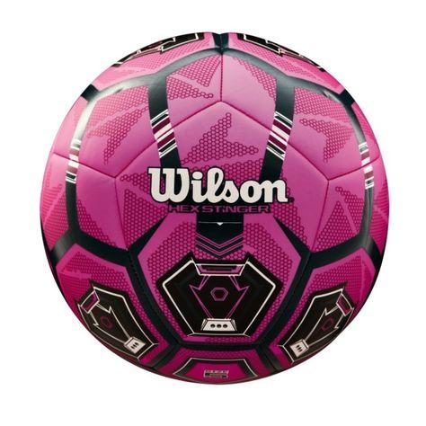 Bola De Futebol Wilson Hex Stringer Pink Preto Em 2020 Bola De