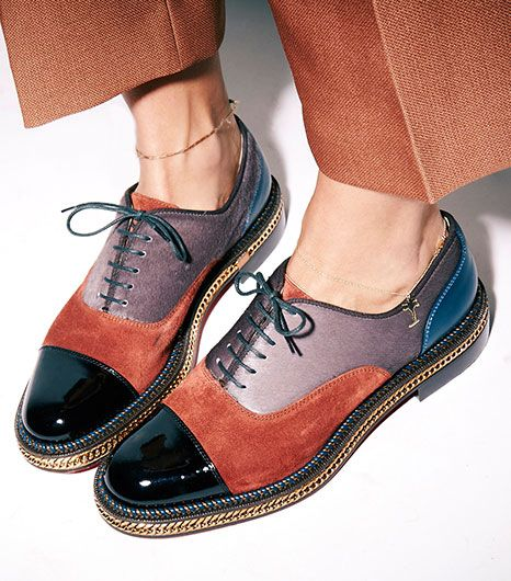 what-do-i-wear:  Christian LouboutinLatcho Mixed-Media Oxfords($1375). (image:whowhatwear)