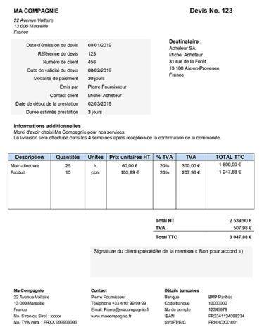 Telecharger Modele Gratuit De Devis Sous Format Word Conduite De Projet Telechargement Devis En Ligne