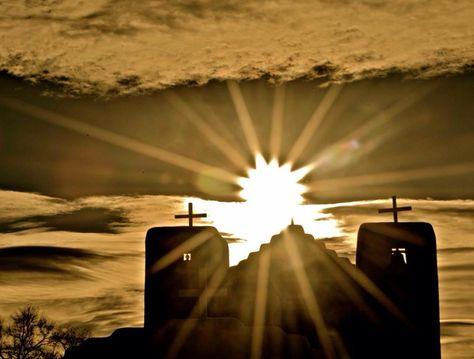 Beautiful sunrise in Taos New Mexico