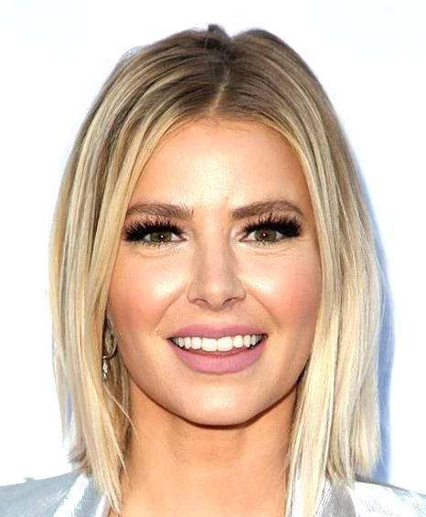 View Yourself With This Ariana Madix Medium Straight Casual Bob Hairstyle Light Blonde Hair Color In 2020 Blonde Bob Haircut Light Blonde Hair Short Straight Hair