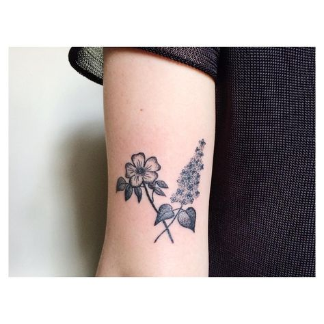 Tea On Instagram Wild Rose And Lilac For Meryn Thanks So Much Sweet Heart Lilac Tattoo Tattoos Violet Tattoo