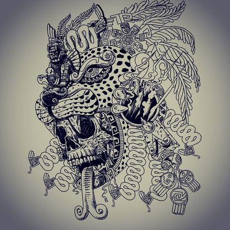 12 Tatuajes de dioses mayas