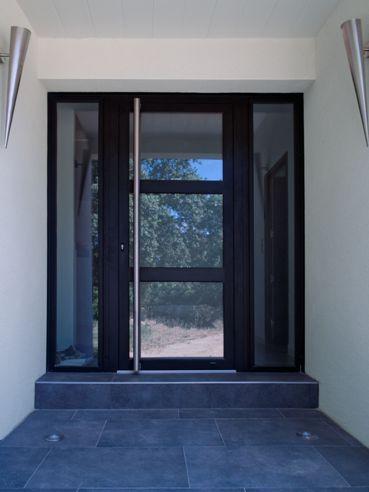 Porte du0027entrée vitrée en aluminium TOISE K-Line deco Pinterest