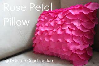 Rose Petal Pillow Diy Roses Rose Petals Paris Themed Room