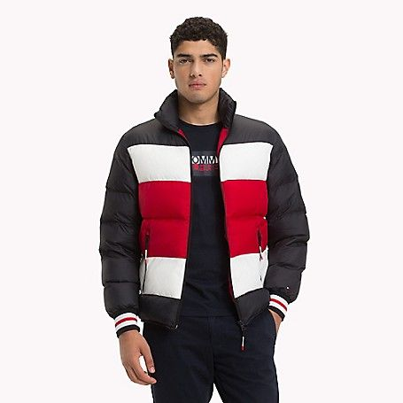chiaro e distintivo vendita economica personalizzate Tommy Hilfiger men's jacket. The puffer-bomber hybrid is all about ...