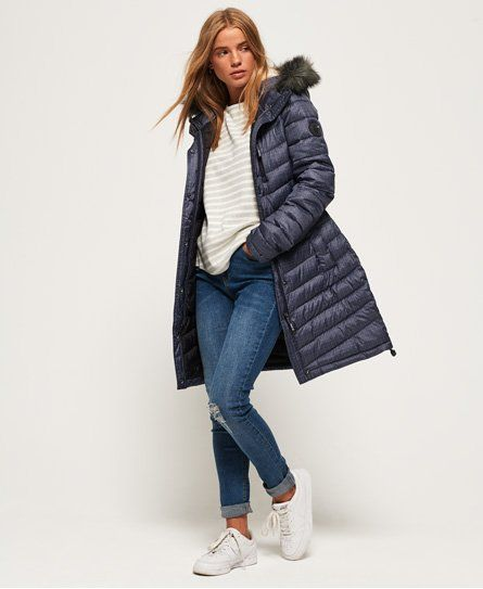 Chevron Faux Fur Super Fuji Jacket in 2019 | Jackets