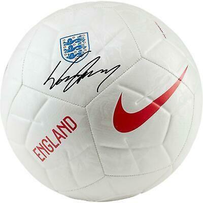 Wayne Rooney England National Team Signed White Nike England Logo Soccer Ball In 2020 England National Team England National Soccer Ball
