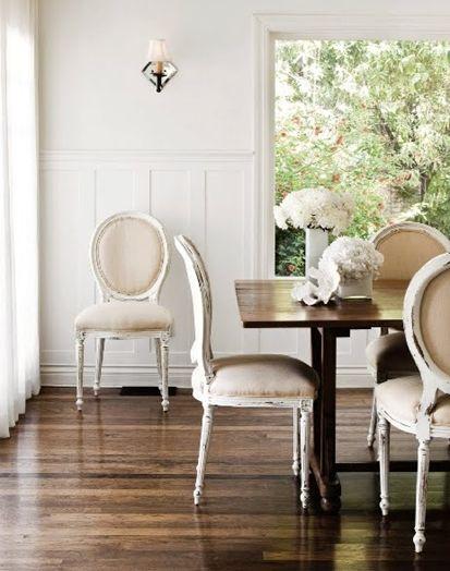 White walls & white trim.