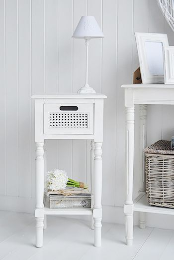 The White Lighthouse Furniture Colonial White Lamp Table With