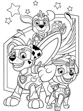 Nice Coloring Page Patrol Mighty Pups 2 On Kids N Fun Paw Patrol Coloring Paw Patrol Coloring Pages Peppa Pig Coloring Pages