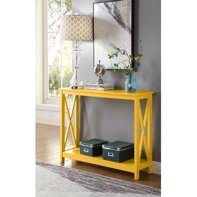 Beachcrest Home Stoneford 39 5 Console Table Color Yellow