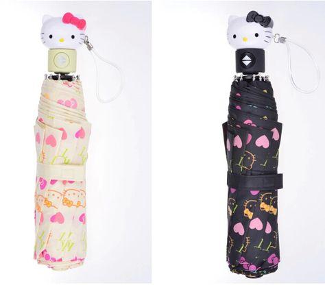 Hello Kitty Sanrio folding umbrella Rain Pink Japan cute Kawaii Gift Free Ship