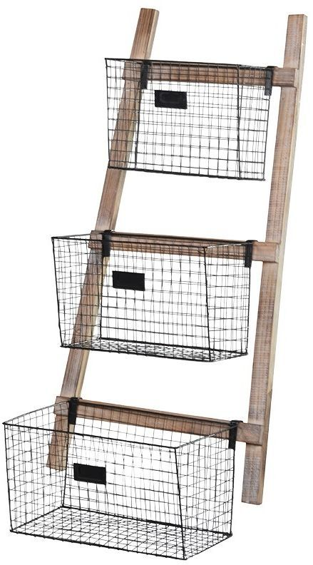 Loft Wire Baskets On Ladder Wedding Gifts For Bride And Groom Wedding Gifts For Bride Best Wedding Gifts