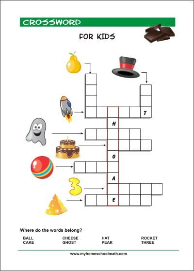 photograph relating to Printable Kid Crossword Puzzles named Pin upon Kindergarten University pursuits and worksheets