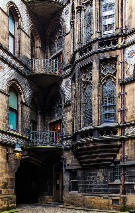 Gothic exterior of the Manchester City Hall, Manchester, England, United Kingdom, photograph by Jon Reid. Gothic Architecture, Beautiful Architecture, Beautiful Buildings, Architecture Details, Beautiful Places, Architecture Portfolio, Beautiful Pictures, Gothic Buildings, Organic Architecture