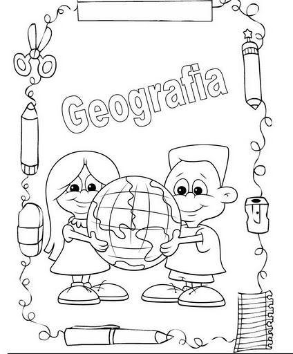 Professora Tati Simões 25 Capas De Caderno Para Colorir E Organizar As Matérias G Portada De Cuaderno De Ciencias Portadas De Cuadernos Caratulas De Ciencias
