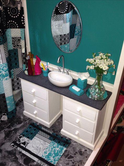 Room In The Dollhouse The Bathroom Vanity Sink Reversible Shower
