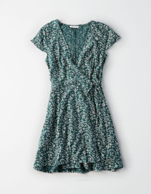 9d266622a AE Short Sleeve Wrap Dress by American Eagle Outfitters | Wrap yourself up  in style.Wrap yourself up in style. Shop the AE Short Sleeve Wrap Dress and  check ...
