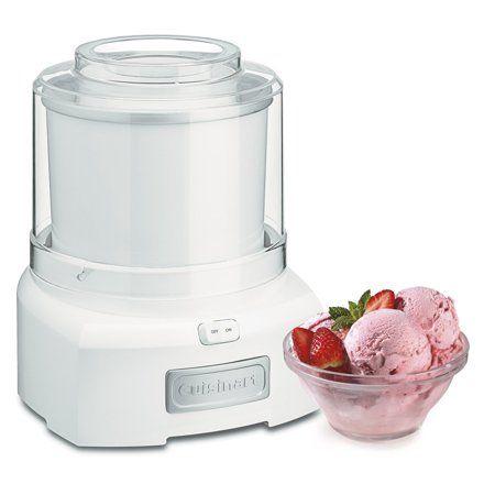 Cuisinart 1 5 Quart Ice Cream Yogurt Makers Frozen Yogurt White Walmart Com Best Ice Cream Maker Ice Cream Maker Recipes Frozen Yogurt