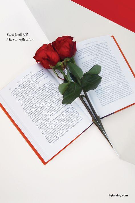 Feliç diada de Sant Jordi a tothom! Sant Jordi Day Barcelona rose & book…