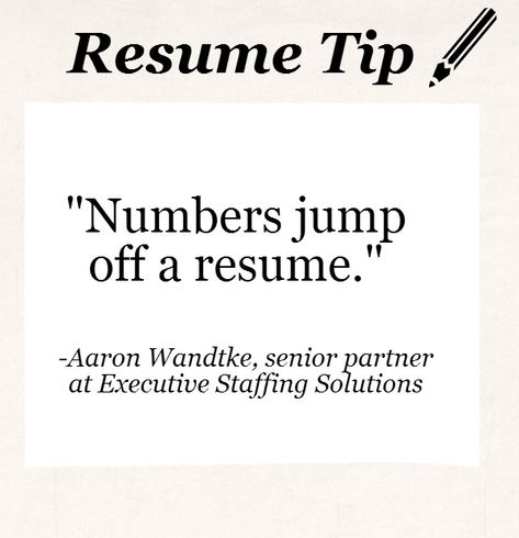 3 Ways to Quantify your Experience with Numbers Resume Tips - michigan works resume