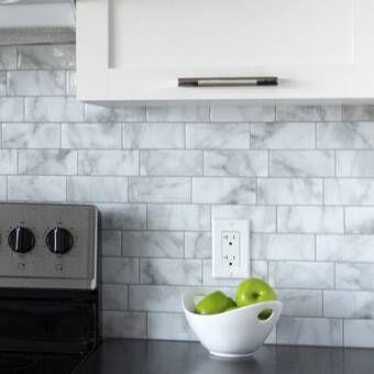 Aspect 6 X 24 Stone Composite Peel Stick Mosaic Tile Reviews Wayfair In 2020 Kitchen Backsplash Peel And Stick Stick On Tiles Smart Tiles