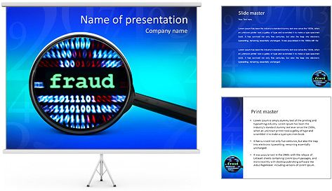 Fraud PowerPoint Template scam Pinterest Template - powerpoint flyer template