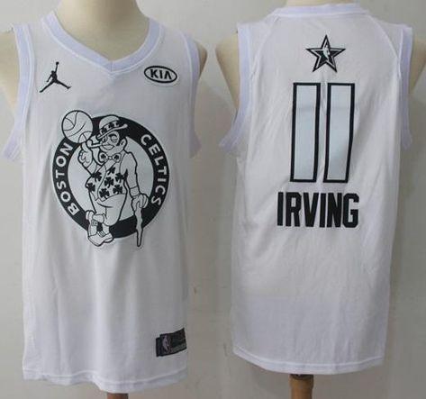1b9f3e5b5 Mens 2018 All Star 11 Kyrie Irving Jersey White Boston Celtics Fanatics  Swingman