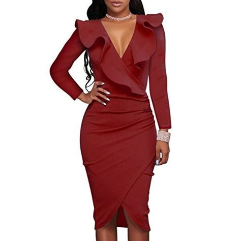 09b76c322ed WOOSEA Women s 2 3 Sleeve Colorblock Slim Bodycon Business Pencil Dress  (Small
