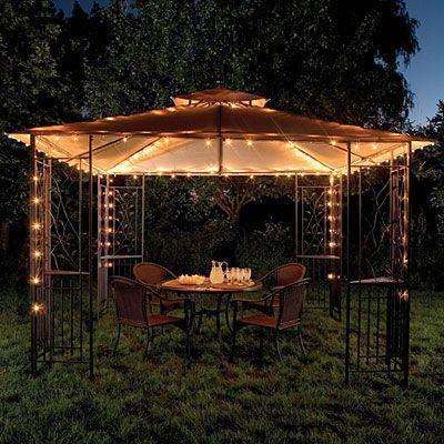 Pin By Sarah Hutson On Love For The Home Backyard Gazebo Gazebo Lighting Outdoor Gazebos