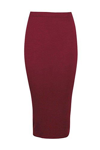 1a4799f126b Boohoo Womens Lexi Midi Jersey Tube Skirt