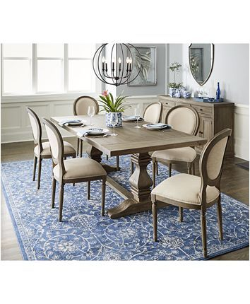 Furniture Tristan Trestle Dining Furniture 7 Pc Set Trestle
