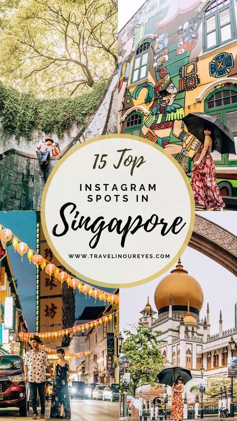 Singapore is such a photogenic city with stunning temples, beautiful parks and great design spaces. We've updated our blog to include more photo spots after our second trip to Singapore. Check out this updated guide for the Top Instagrammable Spots in Singapore! Includes a Google map of all 15 spots. www.travelinoureyes.com #singapore #singaporetravel #instagram #travel