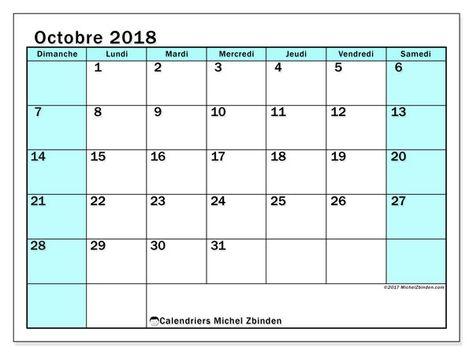 Calendrier Pinterest.Calendrier Octobre 2018 59ds Karine Pratique Pinterest