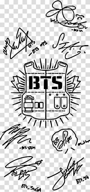 Bts Signatures Illustration Bts Army K Pop Samsung Galaxy Fake Love Bt21 Transparent Background Png Clipart Bts Signatures Fake Love Bts