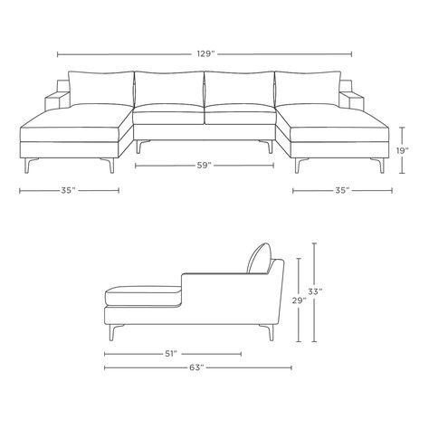 Sloan Custom U-Sectional Sofa - Interior Define
