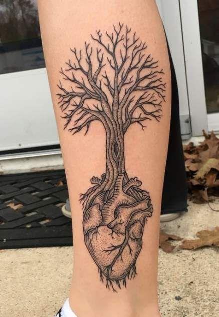 36 Ideas For Tattoo Heart Dotwork Tumblr Tattoo Tree Heart Tattoo Beautiful Tattoos Real Heart Tattoos
