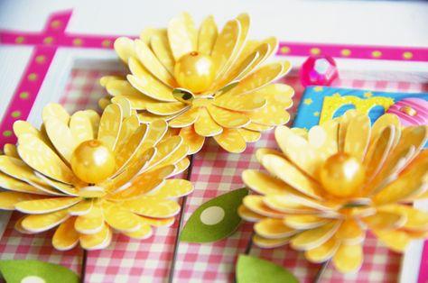 die cut flowers from Cricut - Walk in My Garden (Roree Rumph)