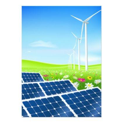 Solar And Wind Power Invitations Invitations Custom Unique Diy Personalize Occasions Solar Wind Wind Power