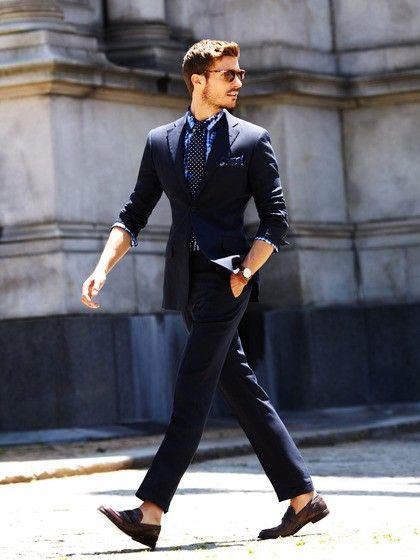 Slim fit blue suit, via MenStyle1 | Men's Apparel | Pinterest ...