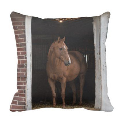 Quarter Horse And Barn Throw Pillow Country Gifts Style Diy