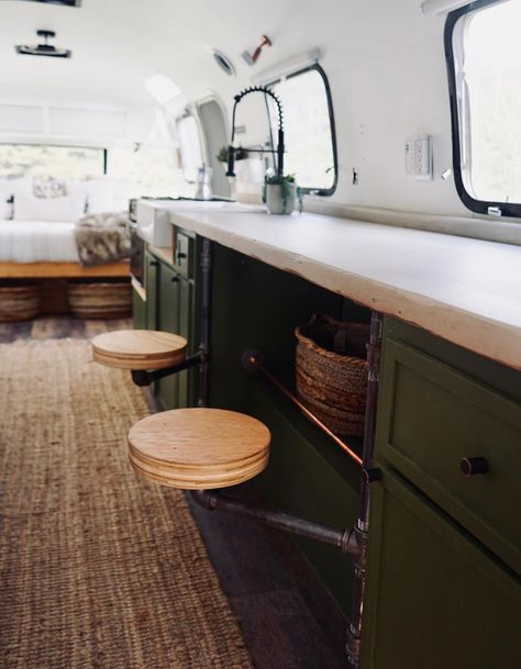 Airstream Remodel, Airstream Renovation, Airstream Interior, Vintage Airstream, Vintage Caravans, Vintage Campers, Rv Interior Remodel, Airstream Bathroom, Trailer Interior