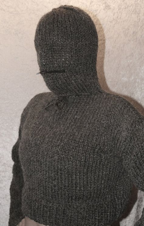 extra scratchy itchy chunky short sweater pur wool jumper with…